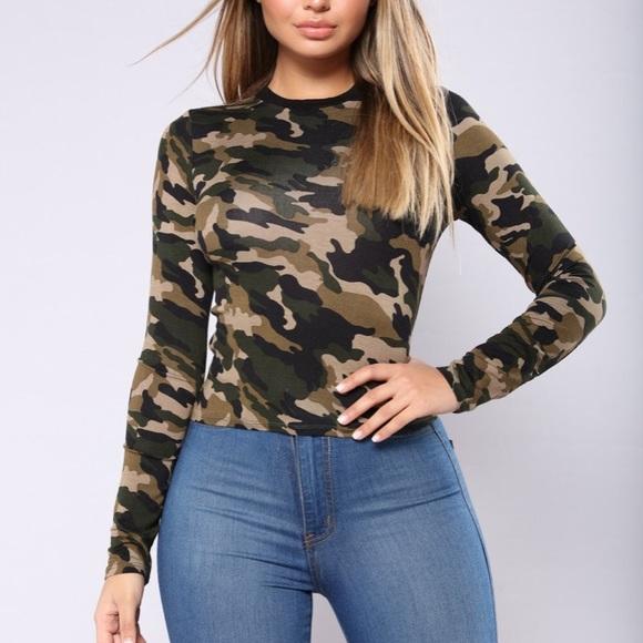 e42735b6 Fashion Nova Tops - Fashion Nova camo shirt